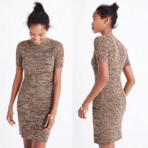 Madewell Marled Slim Mockneck Sweater-Dress
